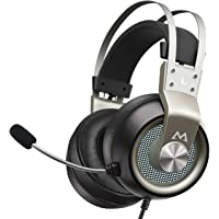 Mpow Xbox One Headset PS4 - EG3 Pro Gaming Headset Stereo Surround Sound with Noise Cancellation Mic & In-Line Control, Over-Ear Gaming Headphones with LED Light, Compatible with PC/Xbox/PS4