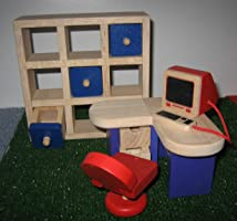 Puppenhausmöbel, Büro, Puppenstubenmöbel