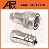 APUK PAIR Hydraulic Quick Release Coupling 1/2' BSP Set Tractor Loader Male & Female