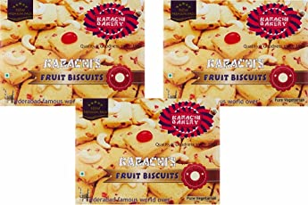 Karachi Bakery Fruit Biscuits, 400g (Pack of 3)