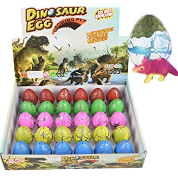 Yeelan Hatching Dino Egg Toy Dinosaur Dragon Hatch-grow Eggs Large Size Pack Of Action Figures