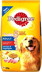 Pedigree Dry Dog Food, Chicken & Vegetables for Adult Dogs – 10 kg