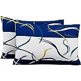 Urban Magic Cotton 104 TC Pillow Cover, Standard, Blue, 2 Pieces