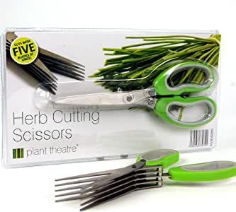 Herb Cutting Scissors by Plant Theatre – 5 Blades – Gift Idea