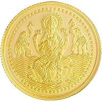 Malabar Gold & Diamonds 24k (999) Goddess Lakshmi 2 gm Yellow Gold Coin