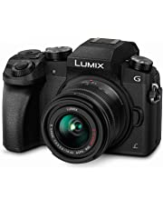 PANASONIC LUMIX G7 4K Mirrorless Camera with 14-42mm MEGA O.I.S. Lens, 16 Megapixels, 3 Inch Touch LCD, DMC-G7KK (USA BLACK)