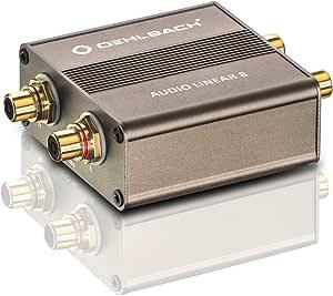 Oehlbach Audio Linear 8 Galvanischer Trennfilter Für Plattenspieler Subwoofer Entstörfilter Zur Eliminierung Von Masseschleifen Metallic Braun Audio Hifi