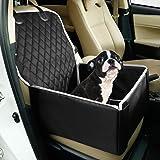 Toozey Hundbilstol för små medelstora hundar, hundbooster bilsäten med robusta sidor, vattentät, halkfri hundbilstol för baks