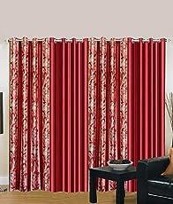 Home Decor Kart 4 Piece Eyelet Polyester Window Curtain Set