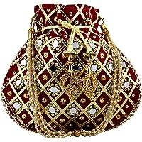 Maroon matka potli women potli handbags