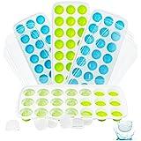 4 bacs à glaçons en silicone avec couvercle, peu encombrant et empilable, certifié LFGB et sans BPA, bacs à glaçons faciles à
