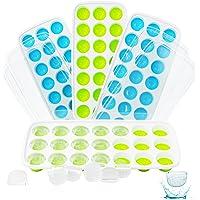 4 Bacs à Glaçons Avec Couvercle Bebe Dégagement Facile Bac Glacon Durables Empilables Sûr en Bac Glacon Silicone…