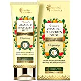 Oriental Botanics Nature's Vitamin C UVA/UVB Protection, Water Resistant Brightening Sunscreen SPF 50 with Natural Sun Blocke