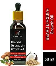 Newish : Beard & Moustache Growth Oil | Mild Fragrance | 4x4 Growth | Paraben & SLS FREE | 50 ml