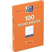 Oxford Fiche bristol Non perforées 100 feuilles A4 (21 x 29,7cm) Blanc