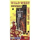 Peterkin-Wild-West Set 8 Tiros-Revolver + Cart, Color Plata, sin Talla (GONHER 201/0)