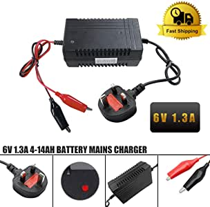 6Volt 1A 5-10AH Toy Car Battery Charger Combo 6v 4.5ah Battery Mains Charger
