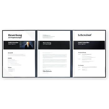 5 Stück 3 Teilige Bewerbungsmappen Lemani Business Navy Blue Mit 1
