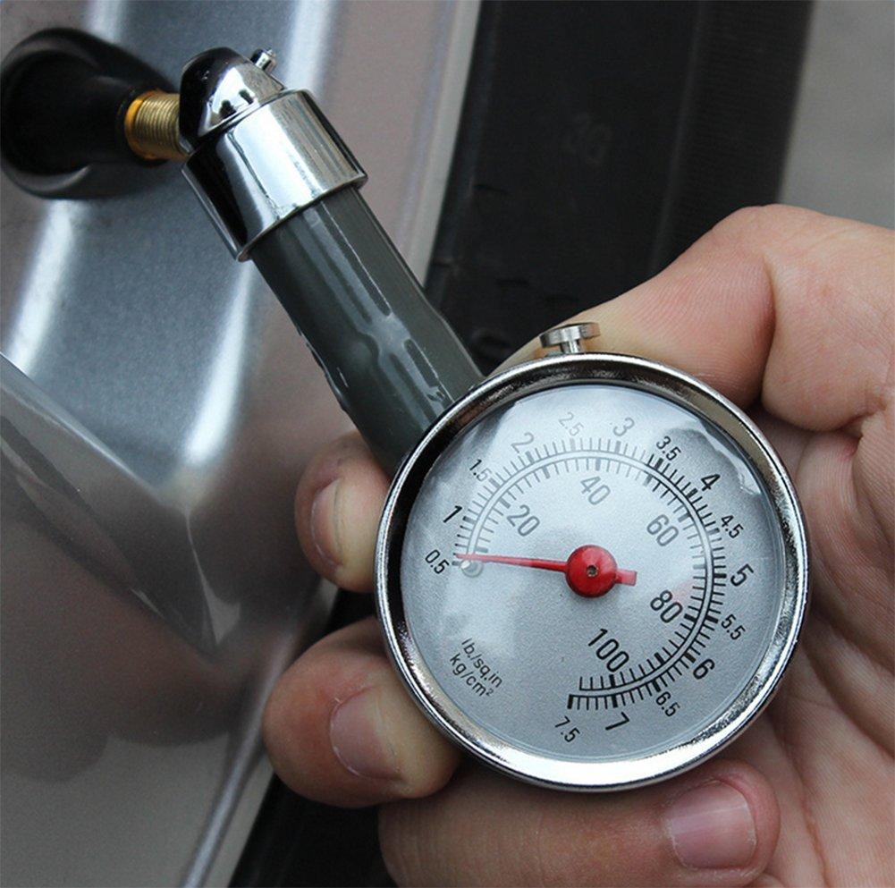 Chytaii – Calibrador de presión de neumáticos de coche, manómetro, también para caravana, camioneta o moto