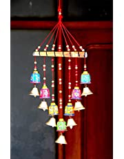 brown leaf® Traditional Decorative Wind Chimes Bells Door Hanging for Diwali & Living Room Home Decor & Diwali Gift Item