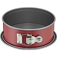Kaiser Classic Plus Springform, mit Flachboden Ø 20 cm, runde Backform, auslaufsicher, antihaftbeschichtet, rot