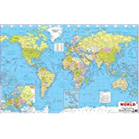 World Map (size 50 x 75 cms. approx.) Political map English