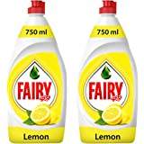 Fairy Lemon Dishwashing Liquid Soap, 2 x 750 ml