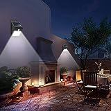 8 مصابيح ليد مقاومة للماء تعمل بالطاقة الشمسية مزودة بمستشعر حركة تثبت على الحائط، مصباح خارجي للحديقة والممرات، مصباح ليلي -
