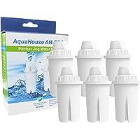 6 filtres universels Aquahouse AH-PBC, compatibles avec pour cartouches pour filtre à eau, cruches Brita Classic…