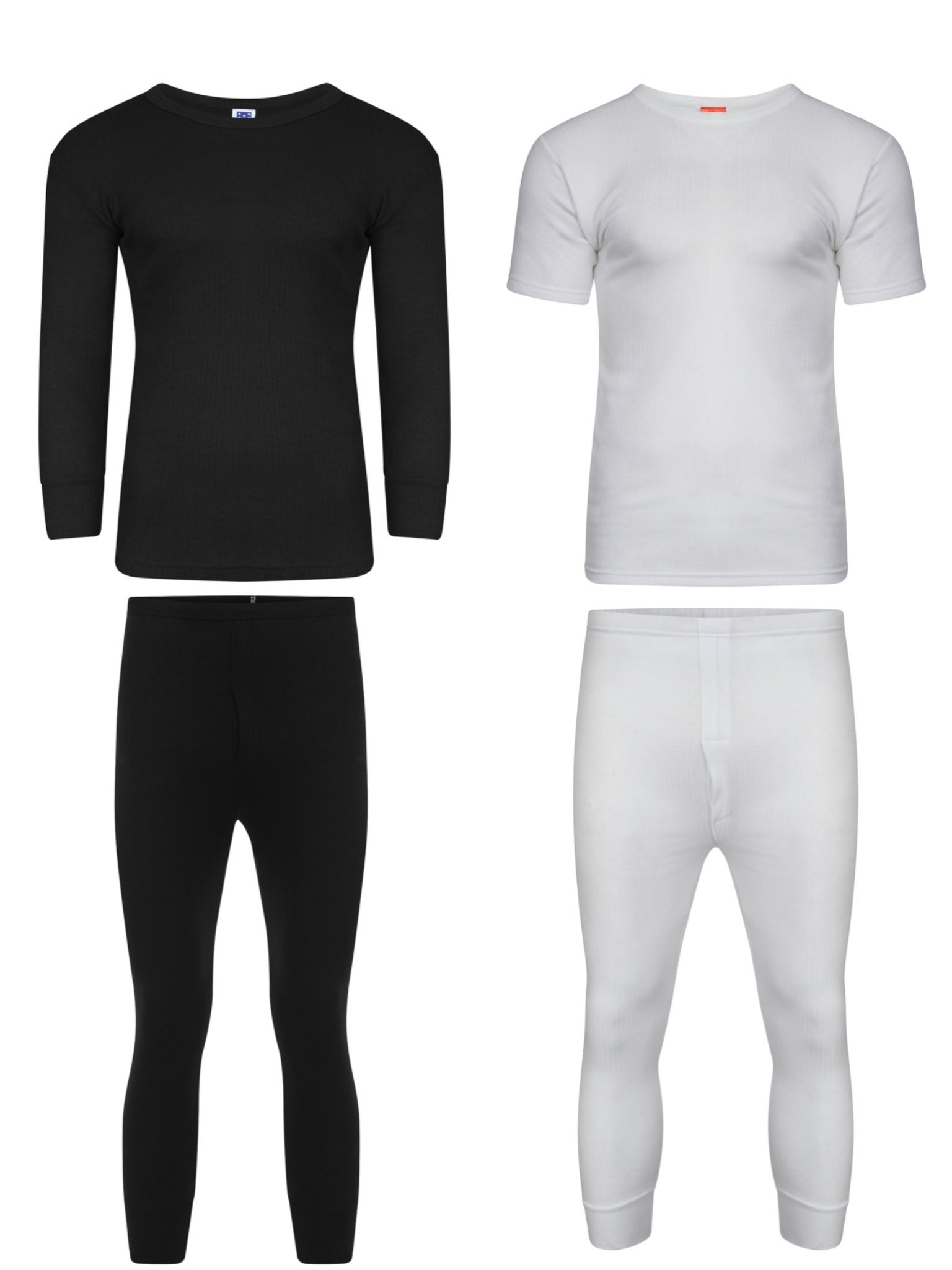 Geeney Thermal Underwear Thermal Underwear Set Long Sleeve Vest Top and Long Johns Extreme Hot Thermals Full Set Warm Base Layer T-Shirt Bottoms Trousers Pants for Winter Camping Ski Mens Thermal