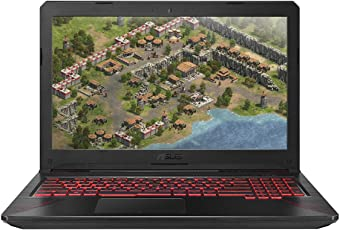 ASUS TUF FX504GE 90NR00I1-M01150 39,6 cm (15,6 Zoll Full-HD Matt) Gaming Notebook (Intel Core i7-8750H, 16GB RAM, 256GB SSD, 1TB HDD, NVIDIA GTX1050Ti (4GB), Windows 10) schwarz