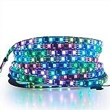 ALITOVE RGB شريط LED قابل للبرمجة WS2811 12 فولت LED شريط أضواء 12 أقدام 300 لمبة LED لون الأحلام قابل للبرمجة الرقمية مرن LE