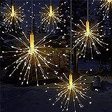 Luces LED de fuegos artificiales, alambre de cobre 120 luces LED a prueba de agua flash de Navidad sala de control remoto, ja