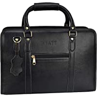 HYATT Leather Accessories 16 Inch Leather Laptop Briefcase Office Bags for Men L-42 x H-30 x W-12 cm (NDML01)