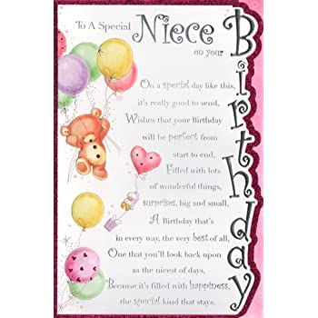 Niece Birthday Card To A Special Niece On Your Birthday Free Uk