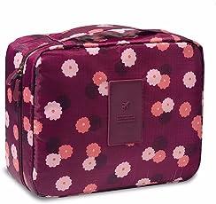 Makeup Toiletry Bag Damen Wasserdicht Makeup Kosmetiktasche Große Kapazität Portable Quick Pack