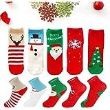 12 Jahre XL Toyvian 5 Paare Kinder Weihnachtssocken Jungen M/ädchen Kleinkind Baby Baumwollsocken Urlaubssocken Warme Wintersocken 8-3