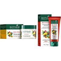 Biotique Bio Fruit Whitening And Depigmentation & Tan Removal Face Pack, 75G And Biotique Bio White Advanced Fairness…