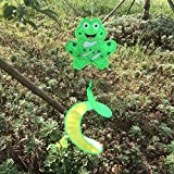 #6: Generic Colorful Animal Insect Spiral Rotating Windmill Wind Strip Spinner Lawn Garden Yard Outdoor Decor Gift