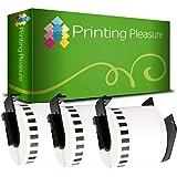 Prestige Cartridge 2x DK22214 12mm x 30.48m Papier /Étiquettes continues pour Brother P-Touch QL-500 QL-550 QL-560 QL-570 QL-580 QL-700 QL-720 QL-800 QL-810 QL-820 QL-1050 QL-1100 QL-1110 Etiqueteuses