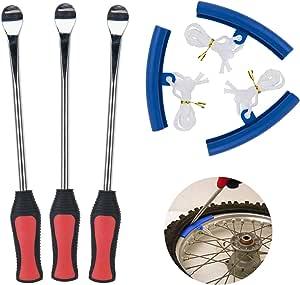 Fuumuui Reifenheber Löffel Set Fahrradreifenheber Mit Felgenschutz Reifenentfernungswerkzeug Für Motorrad Fahrrad Roller Und Atv Auto