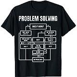 Men Problem Solving Chart - Flow Chart Geek Nerd Funny Nerd T-Shirt
