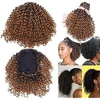 Elailite Coda Finta di Cavallo Afro Chignon Capelli Ricci Finti Extension Clip Cordicella Elastica Hair Scrunchie 20cm…