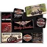 Nostalgic-Art, Set d'aimants rétro, Harley Davidson Bikes – Cadeau pour Les Fans de Moto, Décoration pour Le frigo, Design Vi