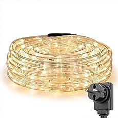 LE 10m LED Lichterschlauch 240 LEDs wasserfest Warmweiß für Innen Außen Party Hochzeit Weihnachten Dekolicht Warmweiß
