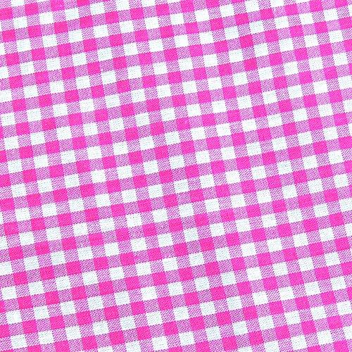 0,5m Vichy-Karo groß 5mm Stoff pink/ weiß Meterware 100% Baumwolle (Karo-stoff Große)