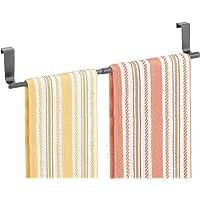 mDesign Kitchen Towel Rack — Kitchen Tea Towel Holder for Cupboard Doors — Over The Cabinet Towel Bar for Tea and Hand…
