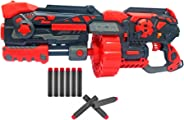 Popsugar Turbo X Gun with Inner and Outer Drum Magazine and 80 Soft Foam Bullets | 2 Modes with Trigger and Slider Shot