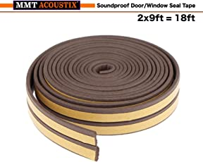 MMT Acoustix® Soundproofing Door/Window EPDM Strip 18 ft Brown D Shape