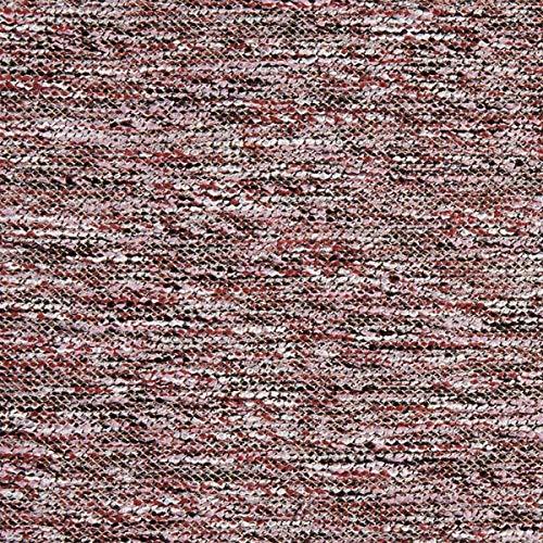Fabulous Fabrics Strickstoff Bouclé – Bordeauxrot — Meterware ab 0,5m — zum Nähen von Jacken, Pullovern und Strickjacken